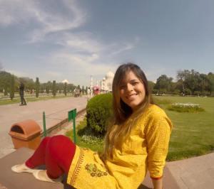 Nos jardins do Taj Mahal Foto: Tamyres Carvalho