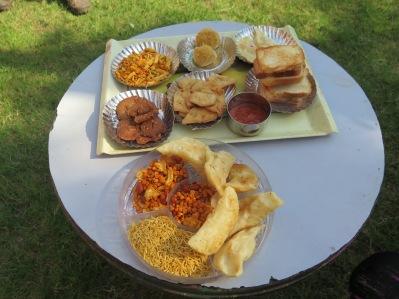 Comida típica do dia da celebração. (Imagem: Mayara)